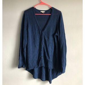 Eileen Fisher 100% Organic Cotton Cardigan Blue L